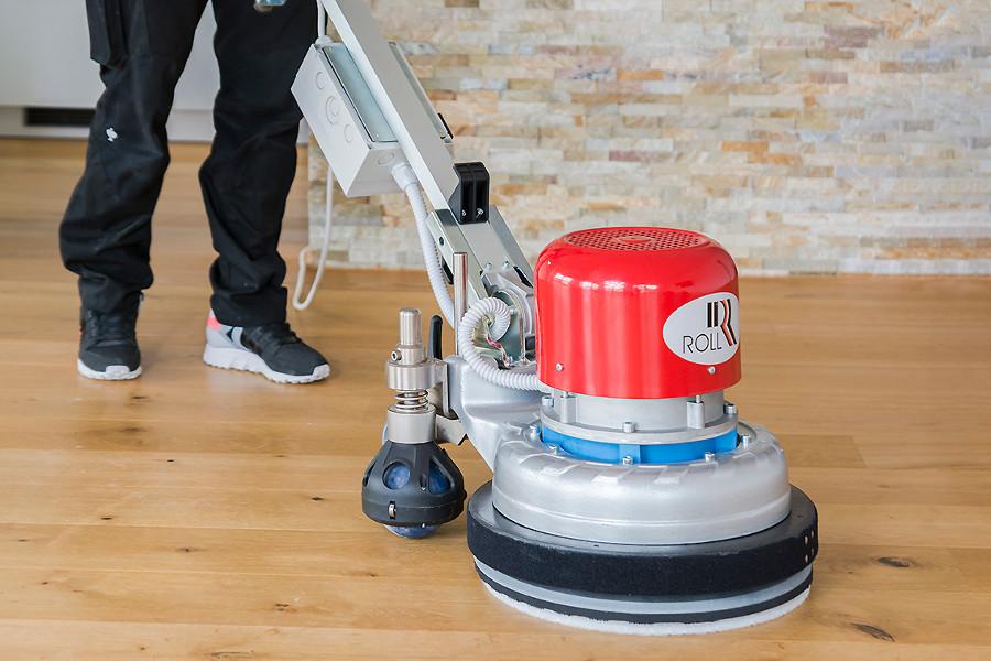 Poliermaschine Renovierung Holz Fußboden