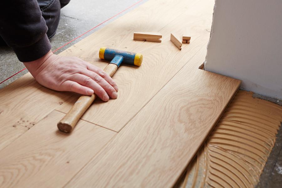 Verlegung Fußboden Holz Parkett